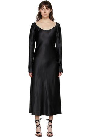 Marina Moscone Heavy Satin Fluid Dress