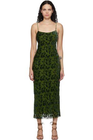 Marina Moscone Velvet Burnout Bias Slip Dress