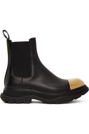 Alexander McQueen And Shiny Toe Chelsea Boots