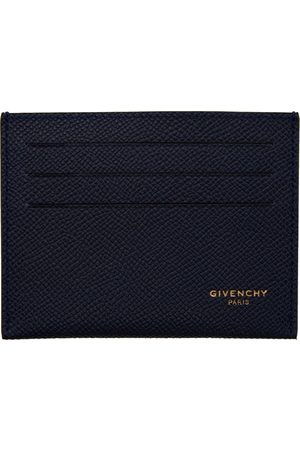 Givenchy Navy Leather Card Holder