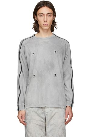 Blackmerle Men Long Sleeve - Grey Zippered Sleeves Long Sleeve T-Shirt