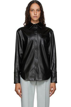 Matériel Tbilisi Faux-Leather Button Shirt