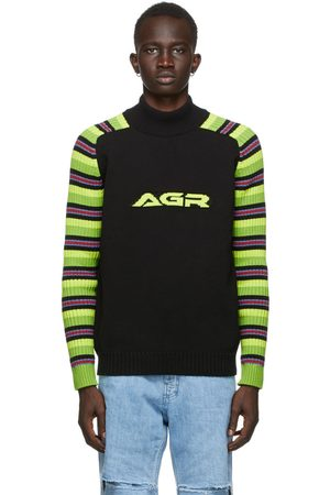 AGR SSENSE Exclusive Striped Logo Sweater