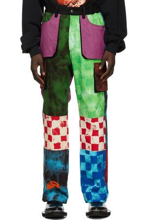 AGR SSENSE Exclusive Tie-Dye Logo Cargo Pants
