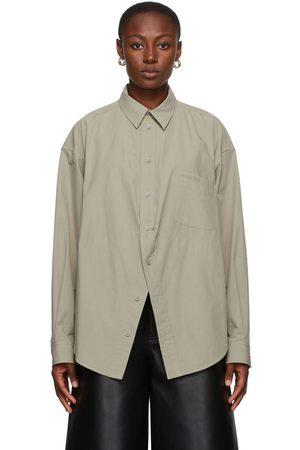 Balenciaga Taupe Swing Shirt
