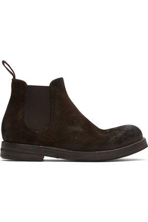MARSÈLL Suede Zucca Zeppa Chelsea Boots