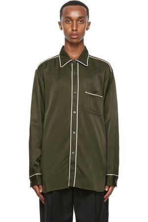 Nicholas Daley Khaki Cotton Standard Shirt