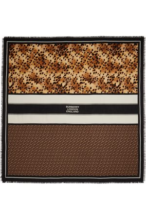 Burberry Women Scarves - Brown Cashmere Montage Scarf