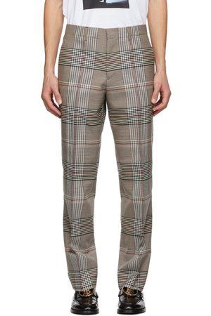 Burberry Plaid Slim Trousers