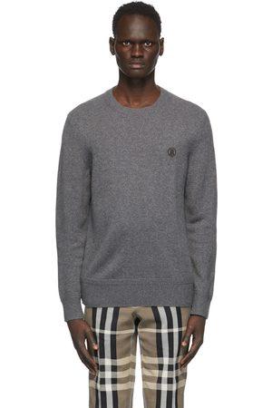 Burberry Men Sweaters - Grey Cashmere Monogram Motif Sweater
