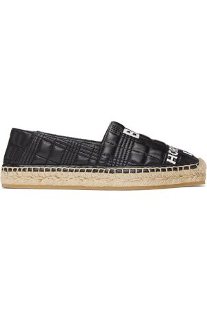Burberry Leather Horseferry Espadrilles