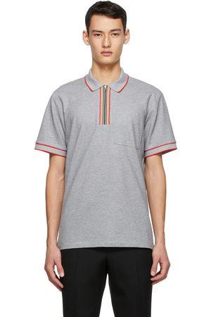 Burberry Grey Icon Stripe Polo