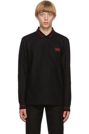 Burberry Logo Applique Genford Long Sleeve Polo