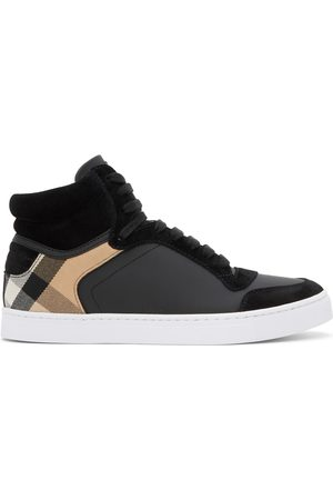 Burberry House Check Reeth High-Top Sneakers