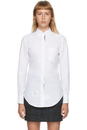 Thom Browne Women Long sleeves - White Classic Long Sleeve Shirt