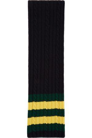 Beams Reversible Wool Jacquard Stole Scarf