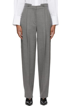 Partow Grey Wool Charlie Trousers