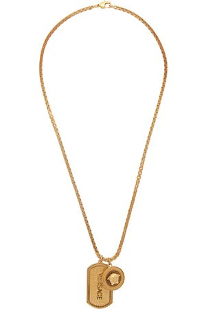 VERSACE Dog Tag Necklace
