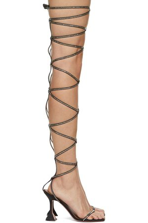Amina Muaddi Women Sandals - AWGE Edition Thigh-High LSD Gladi Heeled Sandals