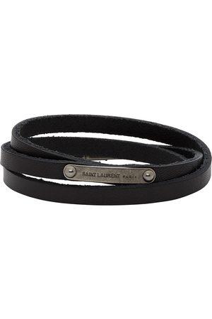Saint Laurent Narrow Multi-Wrap ID Bracelet