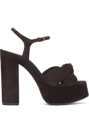 Saint Laurent Women Sandals - Suede Bianca 85 Heeled Sandals