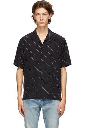 Saint Laurent Diagonal Stripe Short Sleeve Shirt