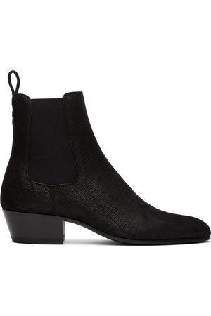 Saint Laurent Lizard Cole Chelsea Boots