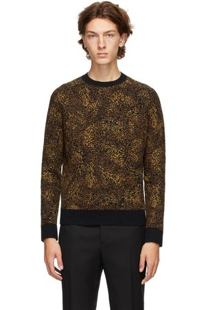 Saint Laurent Jacquard Leopard Crewneck Sweater