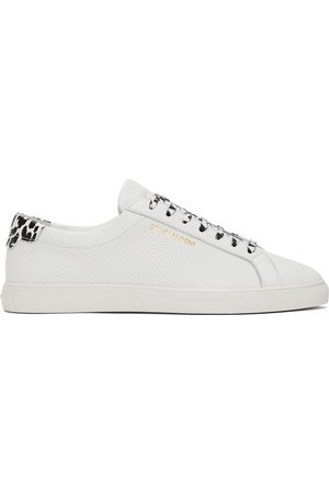 Saint Laurent Babycat Print Perforated Calfskin Andy Sneakers