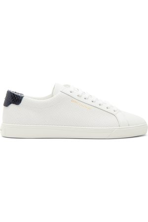 Saint Laurent Perforated Calfskin Andy Sneakers