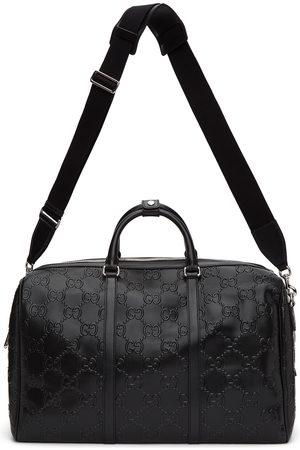 Gucci Black ' Signature' Weekender Duffle Bag