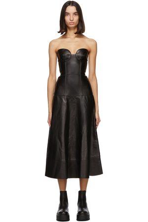 VALENTINO Women Midi Dresses - Leather Bustier Dress