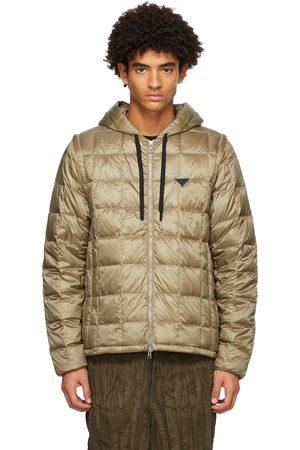 TAION Khaki Down Extra Heated Zip-Up Jacket
