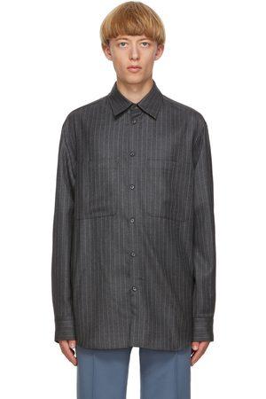 VALENTINO Grey and Pinstripe Cinch Shirt