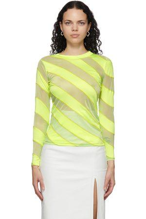 Meryll Rogge Diagonal Stripes Fluid Long Sleeve T-Shirt