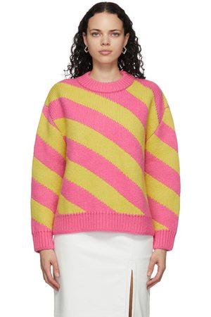 Meryll Rogge And Diagonal Stripe Sweater