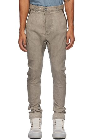 11 BY BORIS BIDJAN SABERI Men Jeans - Taupe Oxidized Jeans