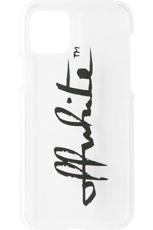 OFF-WHITE Transparent Logo-Print iPhone 11 Pro Case