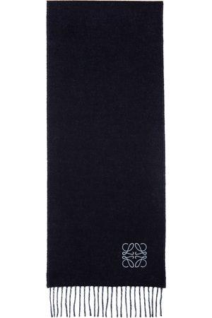 Loewe Navy & Blue Wool Anagram Scarf