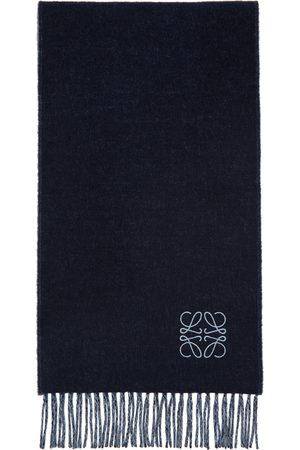 Loewe And Navy Wool Anagram Scarf