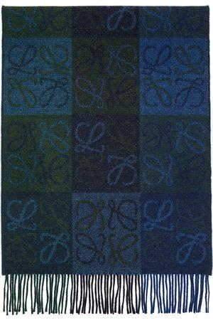 Loewe Navy and Wool Anagram Scarf
