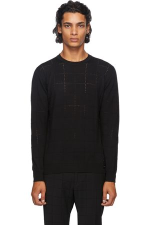 Fendi Wool Punched Check Sweater