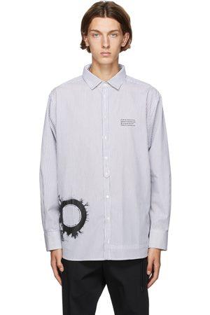 ISABEL BENENATO And Stripe Graphic Print Oversized Shirt