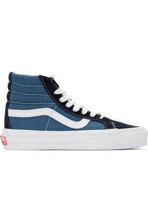 Vans And Navy OG Sk8-Hi LX Sneakers