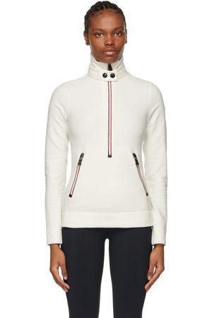 Moncler Zip Mock Polo Neck Sweatshirt