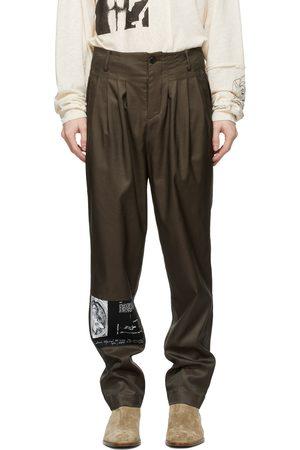 ENFANTS RICHES DEPRIMES Men Pants - Khaki Tumbling Tears Pleated Trousers