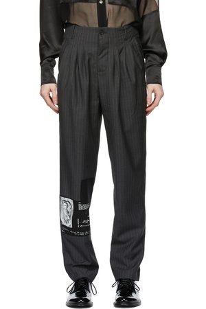 ENFANTS RICHES DEPRIMES Men Pants - Grey Pinstripe Assemblage Pleated Trousers