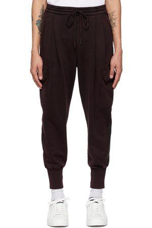 Dolce & Gabbana Burgundy Logo Patch Jogging Cargo Pants
