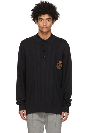 Dolce and Gabbana Mixed Knit Polo