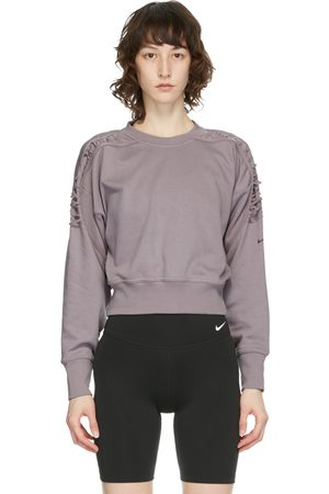 Nike Women Hoodies - Fleece Laced Cropped Sweatshirt
